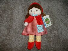 """Baby Gund Little Red Riding Hood Plush Doll Toy Infant Girls Fairy Tale 13"""" NWT"""