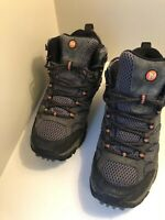 Merrell Moab 2 Mid Waterproof Hiking Boots Size 7 - Men's Outdoor Shoes Gray