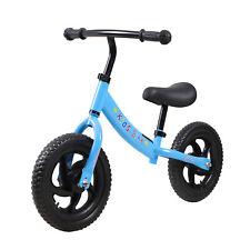 Blue Balance Bike Walking Training Adjustable for Toddlers 2-6 Year Old Kids Toy