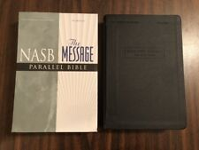 NASB / The Message Parallel Bible - Black Leathersoft - $49.99 Retail