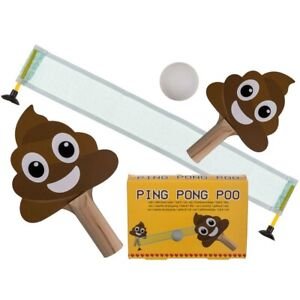 Emoji Poo Ping Pong Table Tennis Kids Table Top Game Childs Travel Novelty Gift