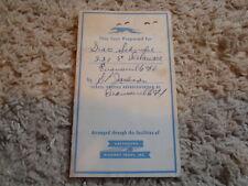 Greyhound Highway Tours Ticket/Envelope 1956