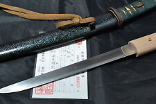 Japanese Samurai real sword Katana Tanto sharp steel blade Koshirae by Kunitugu