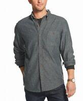 G.H. Bass & Co. Men Shirt Gray Size XL Button Down Front Pocket Flannel $60 #502