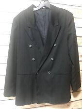 Michael James Size 18 Reg Black Button Front Blazer Sport Coat Suit Jacket Lined