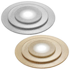 Round Glitter Mirrors Plates Cake Tray Table Candle Wedding Centrepiece 3 Sizes