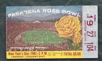 1961 Rose Bowl football ticket stub Washington Huskies Minnesota Gophers 1927104