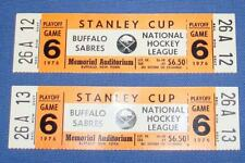 1976 BUFFALO SABRES NHL STANLEY CUP GAME 6 MEMORIAL AUDITORIUM HOCKEY TICKETS