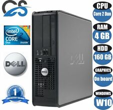 Dell Optiplex Ordinateur Pc de Bureau Intel Core 2 Duo E8400 3GHz 4gb Ram 160GB