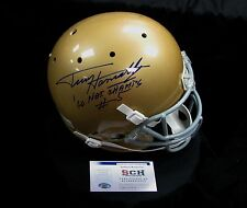 """Terry Hanratty Signed Notre Dame F/S Replica Helmet W/ """"66 National Champs"""" SCH"""