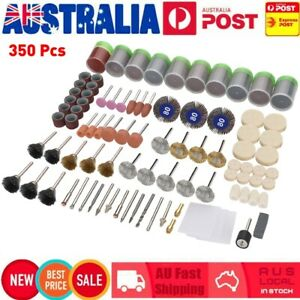 350 Piece Dremel Rotary Tool Accessories Kit Grinding Polishing Shank Craft Bits