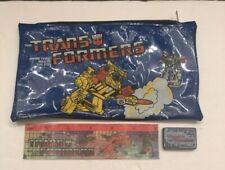 Vintage Transformers Pencil Case/Ruler/Eraser Plastic | 1985 Authentic | Hasbro|