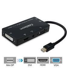 4-in-1 Mini Displayport (Compatible Thunderbolt) toHDMI/DVI/VGA Adapter Cable