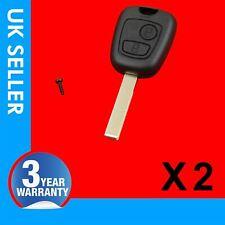 2X Remote Flip Key Fob Case 2 Button FITS PEUGEOT 106 205 206 306 307 406 407