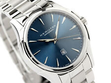 NEW SWISS MADE WOMEN'S BLUE DIAL HAMILTON JAZZMASTER AUTOMATIC H32315141