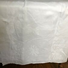 "Antique Linen Damask Table Cloth - 68"" x 132"""