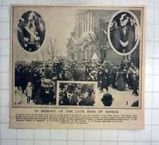1913 Requiem Service In Memory Of Late King Of Greece, Greek Church London