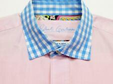 ROBERT GRAHAM R&G Pink Gingham Check Woven Long Sleeve Shirt L