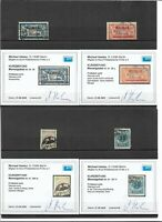 Memel, Litauen 1920-1923, aus MiNrn: 29 - 206 o, alle mit Fotobefund Hauslau BPP