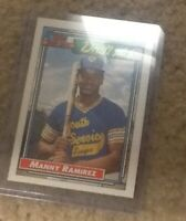 1992 Topps Manny Ramirez DRAFT PICK CARD #156 PRISTINE CONDITION