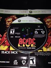 DISC, Slip Cover & Manual ONLY!! AC/DC Live: Rock Band Track Pack - Xbox 360