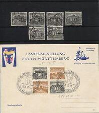 Berlin 42 Plattenfehler I, II(2), III, IV, VIII, X und XIII gestempelt (B05608)