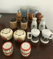 Lot of 6 sets - Assorted Vintage Salt and Pepper Shakers - Made in Japan