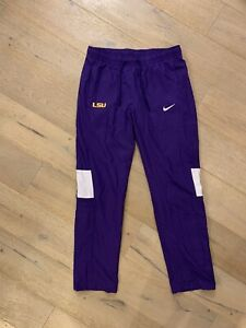 Nike Dri-Fit LSU Tigers Sideline Gear Lined Warm Up Pant Women's Medium