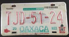 Oaxaca Mexico License Plate Tag Monte Alban Ruins Placa