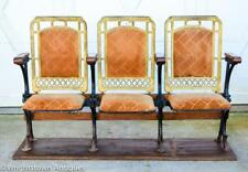 Authentic 1920s Art Deco Stage Theater 3/Chair Section Stunning