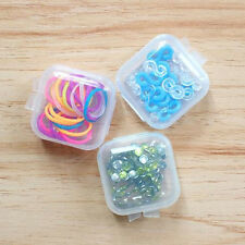 5Pcs Transparent Plastic Small Box Hook Jewelry Case Earplugs Storage Boxes