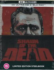 Shaun of the Dead 2-Disc Limited Edition 4K Uhd SteelBook; Region Free Uk Import