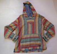 FAHERTY Multi-Color Baja Striped Cotton Hoodie - Men's Large