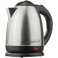 Brentwood KT-1780 Electric Cordless Tea Kettle, 1.5 Ltr, Brushed Stainless Steel