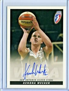 Kendra Wecker 2007 WNBA Rittenhouse Archives Certified On Card Autograph Auto