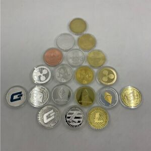 19 types Gold/silver color Bitcoin Cryptocurrency Physical Coin Collection Gifts