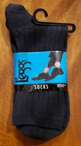 L'eggs Mid-Calf Micro Nylon Socks, Navy Blue , shoe Size 5-9
