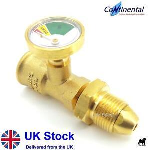 Hi-Lo Pressure Gauge Level Indicator Propane Gas Bottle Calor Cylinder Adaptor