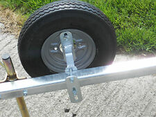 """Galvanized Spare Wheel Bracket for 4"""", 100mm & 115mm PCD - Boat Trailer Parts"""