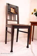 Antiker Jugendstil Lederstuhl / Holzstuhl Salonstuhl / Antique Art Nouveau Chair