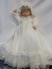 """Darling 21"""" Reborn Berenguer Baby Doll In Beautiful Long White Gown"""