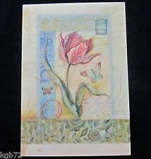 Leanin Tree Belated Birthday Greeting Card Flowers Glitter Multi Color R125
