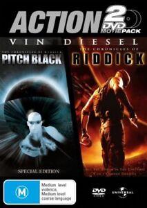 Pitch Black / Chronicles Of Riddick DVD (Pal, 2007, 2-Disc Set) Free Post