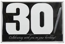 Wooden Birthday Signature Plaque Happy 30th Gift