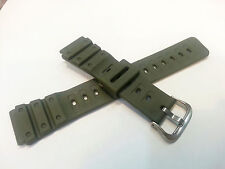 Genuine Casio Replacement Band 20mm / 24mm Green Resin band Japan MQ550CW