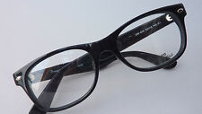 Glasses Frames Plastic Nerd Unisex Ladies Men's Black Distinct Size M
