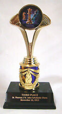 "Chess Trophy - 8"" tall - Free Engraving"