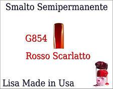 G854 SMALTO SOAK SEMIPERMANENTE LISA GEL POLISH MADE USA Rosso Scarlatto NA CAS