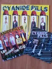 """CYANIDE PILLS-STILL BORED LP+WHERE 7""""+WALL 7""""(DAMAGED GOODS)+2 BADGES"""