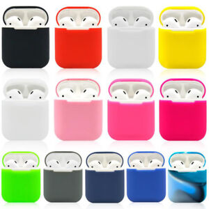 2pcs Silicone Shock Proof Protective Cover Case Skin For Apple AirPods Earphones